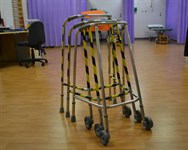 Walking frames in the rehab department