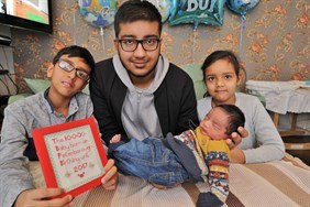 Baby Majid pictured with family members