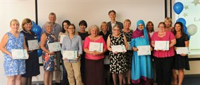 Staff received certificates, badges and vouchers to commemorate their long service