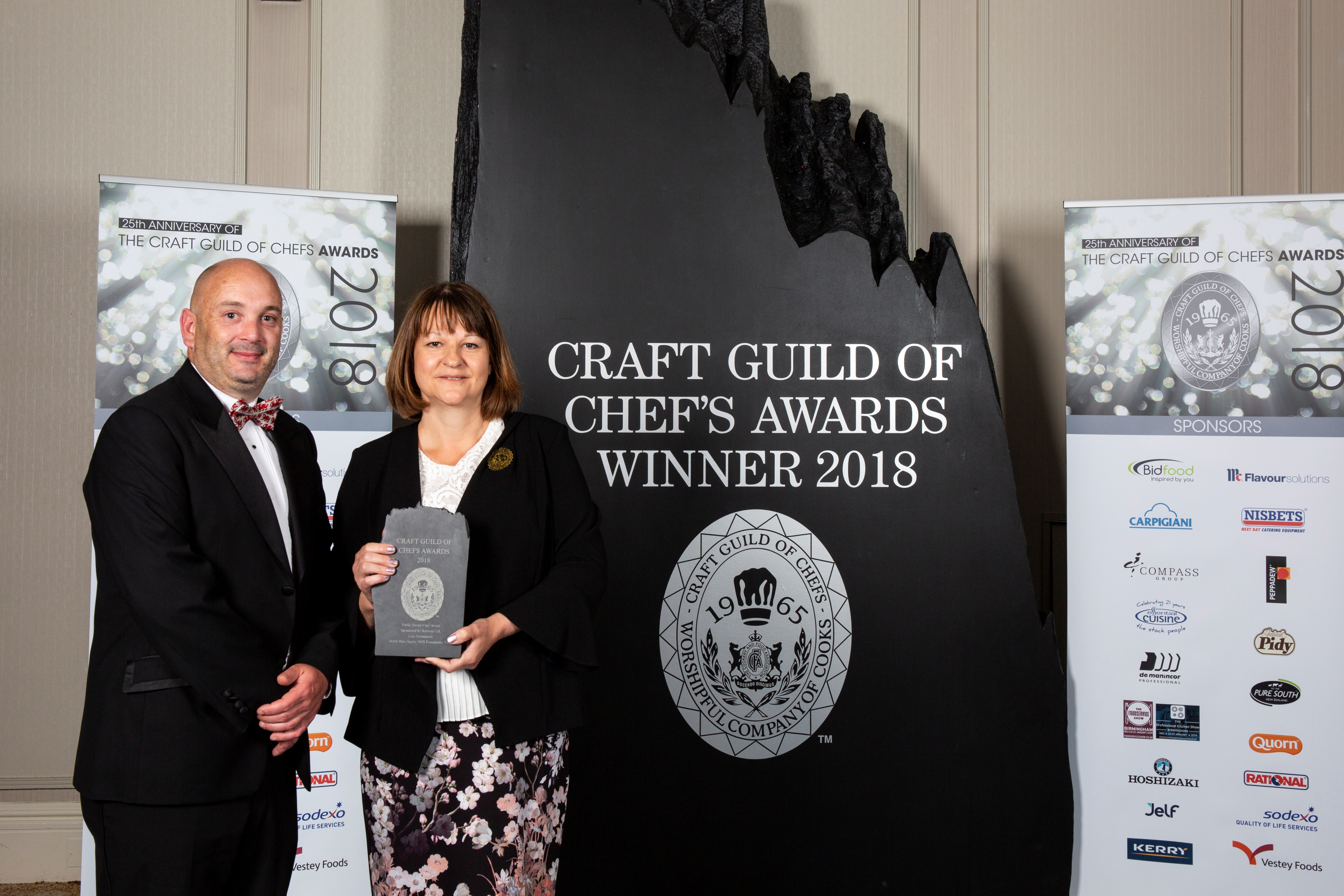 Head Chef, Lisa being awarded Public Sector Chef of the Year